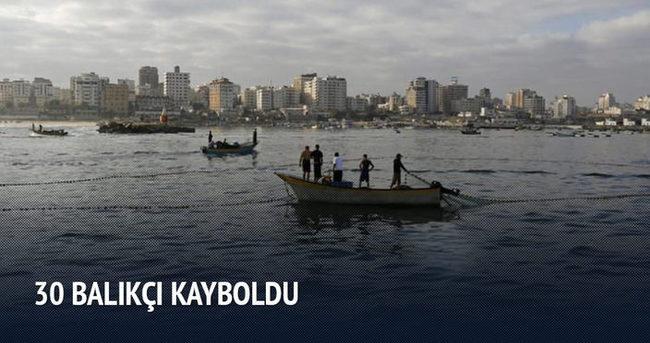 30 balıkçı kayboldu
