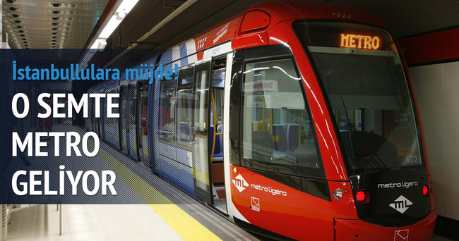 Arnavutköy metrosunda ilk adım