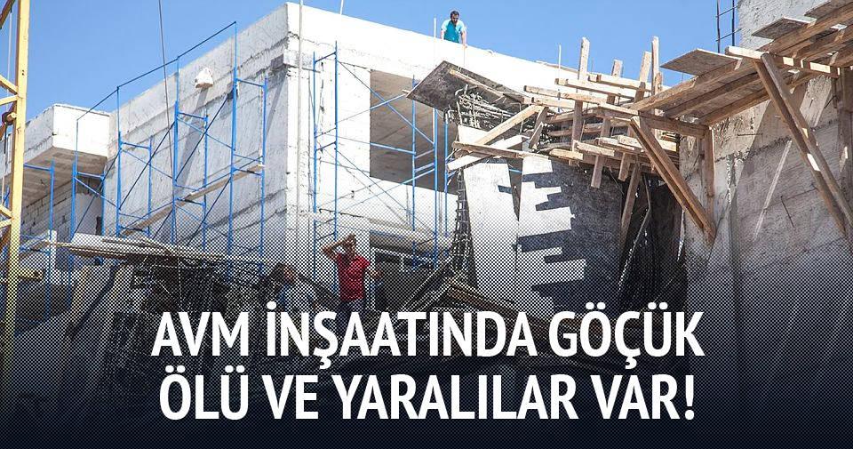 AVM inşaatında göçük