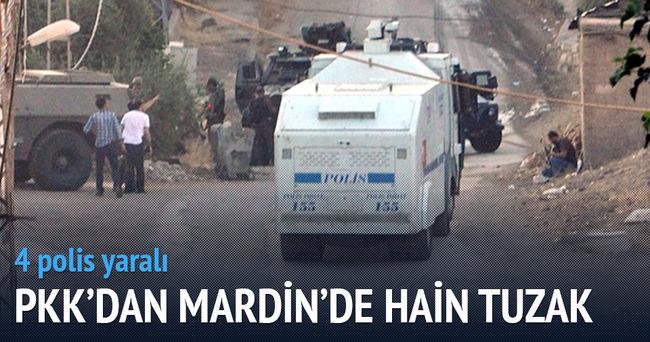 Mardin'de hain tuzak: 4 polis yaralı