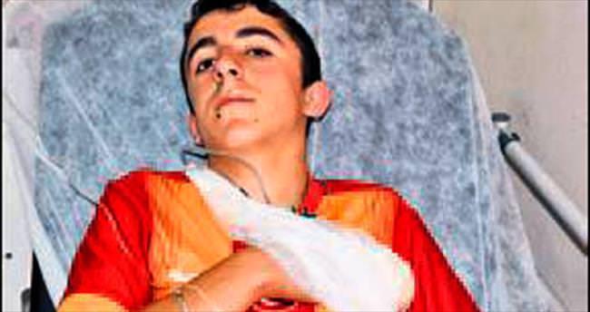 Parmağı kopan çocuğa ambulans uçak tahsisi