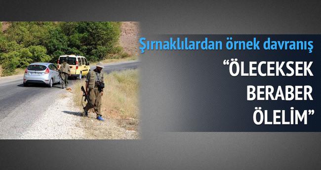 Şırnaklılar, PKK'ya karşı askere siper oldu