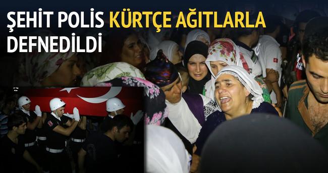 Şehit Polis Kürtçe ağıtlarla defnedildi!