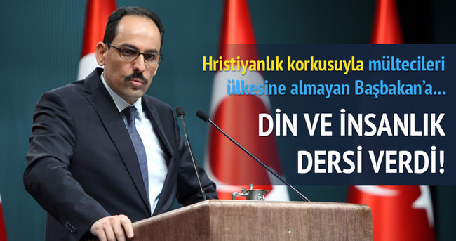 İbrahim Kalın'dan Macaristan Başbakanı'na cevap
