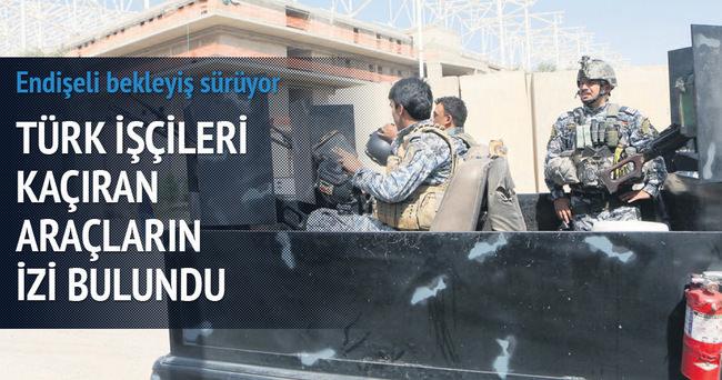 Türk işçileri kaçıran araçların izi bulundu