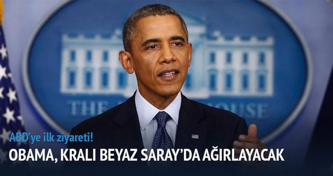 Obama,Kralı Beyaz Saray'da ağırlayacak