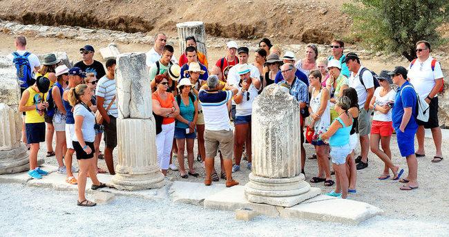 Turist sayısı arttı