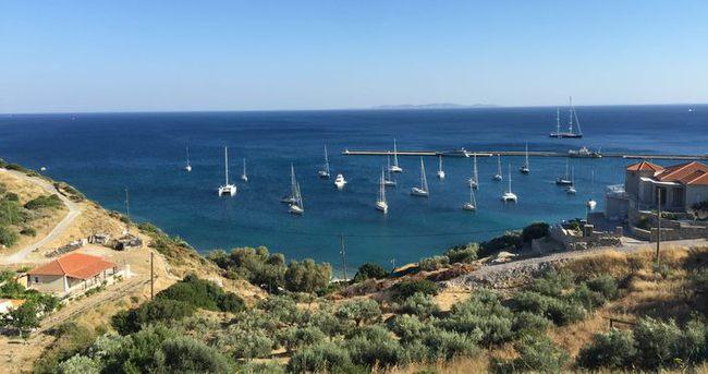 Samos'a Türkiye'den Turist Akını