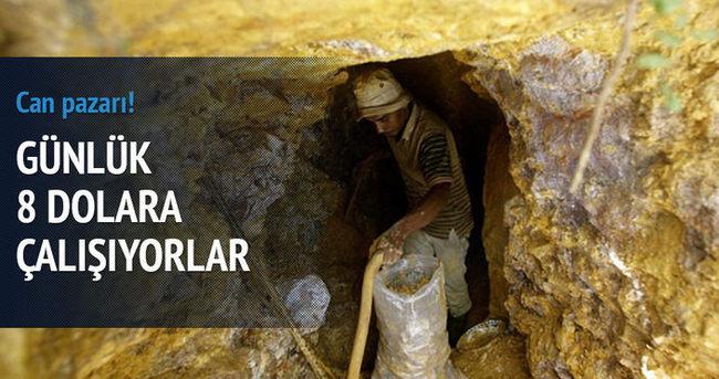 Altın madenlerinde can pazarı