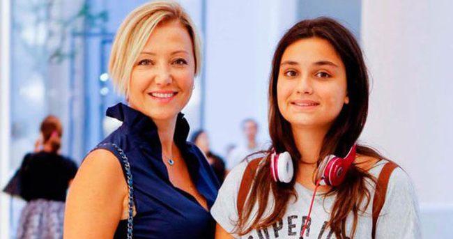 Berna Laçin'in kızı boyuna yetişti