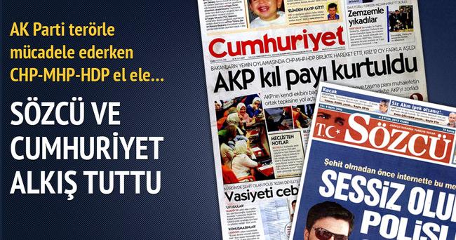 CHP-MHP ve HDP'nin birleşmesine malum medyadan destek