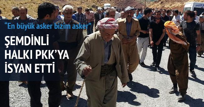 Şemdinli halkı PKK'ya isyan etti!