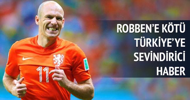 Arjen Robben 4 hafta sahadan uzak kalacak