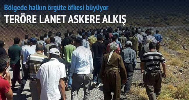PKK'ya tepki askere sevgi