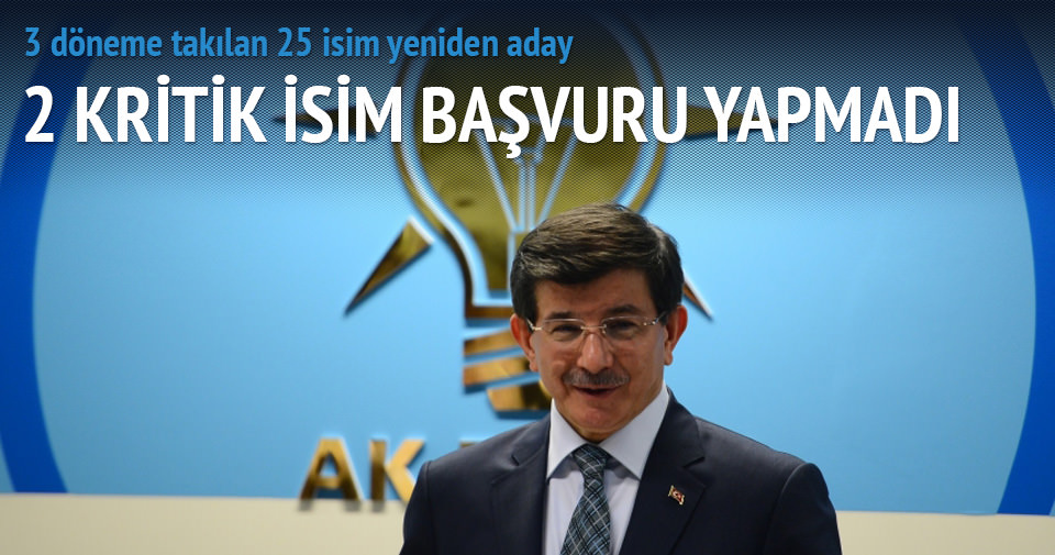 AK Parti'de 3 döneme takılan 25 isim yeniden aday