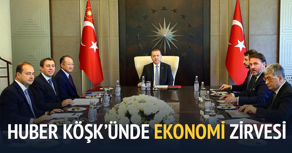 Huber Köşk'ünde ekonomi zirvesi