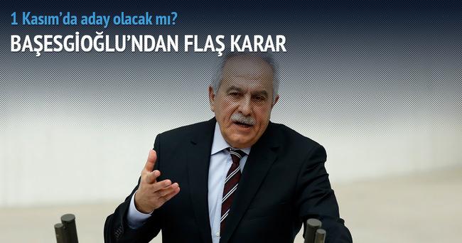 Başesgioğlu, 1 Kasım'daki seçimlerde aday olmayacak