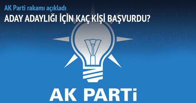 AK Parti'ye aday adaylık için 3 bin 656 başvuru