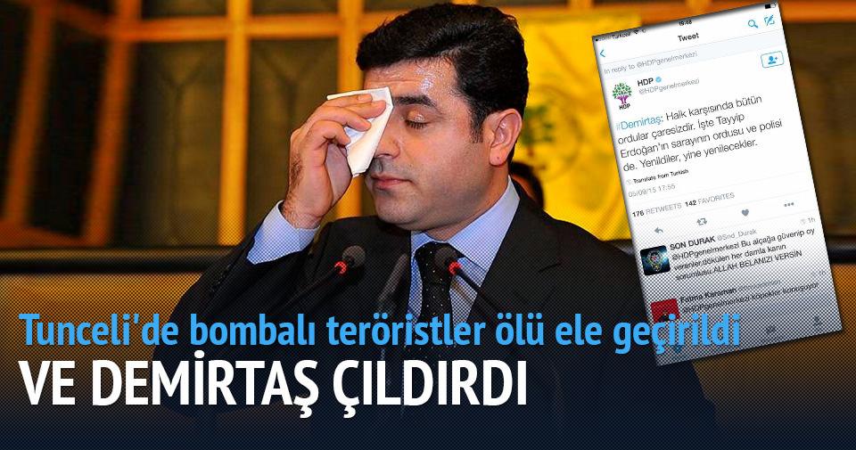 Tunceli'de bombalı teröristler ölü ele geçirildi Demirtaş çıldırdı!