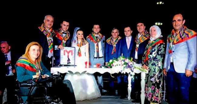 Başkan Tatlıoğlu oğlunu evlendirdi
