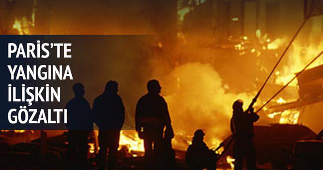 Paris'teki yangınla ilgili bir kişi tutuklandı