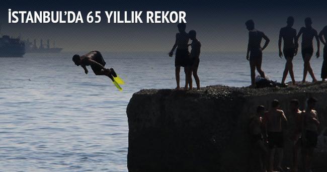 İstanbul'da bugün 65 yıllık sıcaklık rekoru kırıldı