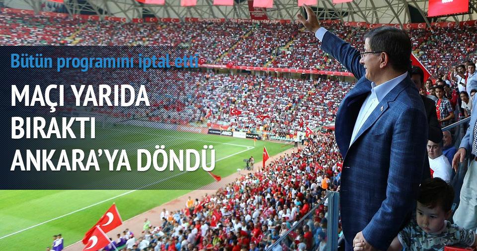 Maçı yarıda bıraktı Ankara'ya döndü
