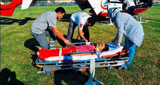 Hava ambulansı imdada yetişti