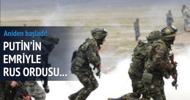 Rus ordusu ani tatbikata başladı