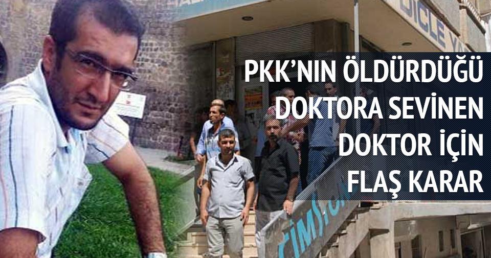 PKK'nın öldürdüğü doktora sevinen doktora şok