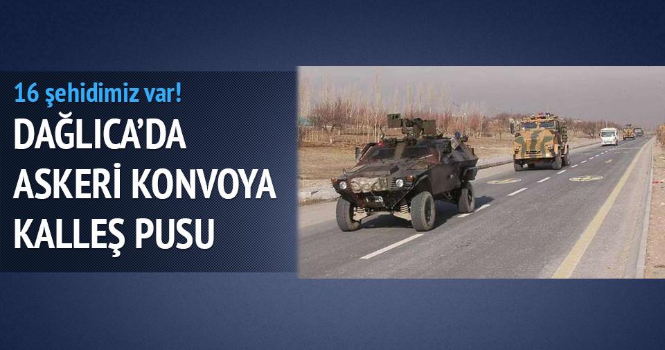 Dağlıca'da askeri konvoya kalleş pusu