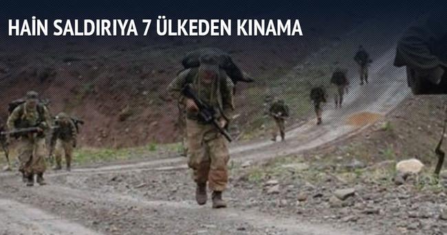 Dağlıca'daki hain saldırıya 7 ülkeden kınama