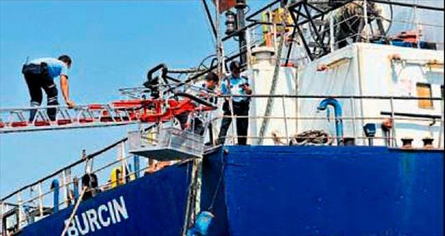 Sabıkalı gemide hırsız avı yapıldı