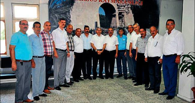 Esnaf temsilcileri protokolü ziyaret etti