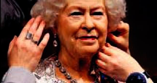 Kraliçe Elizabeth için özel balmumu heykel