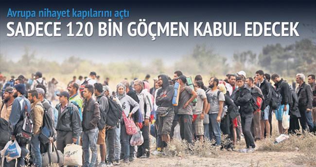Tüm Avrupa 120 bin göçmen için anlaştı