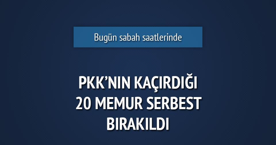PKK'nın kaçırdığı 20 gümrük memuru serbest!