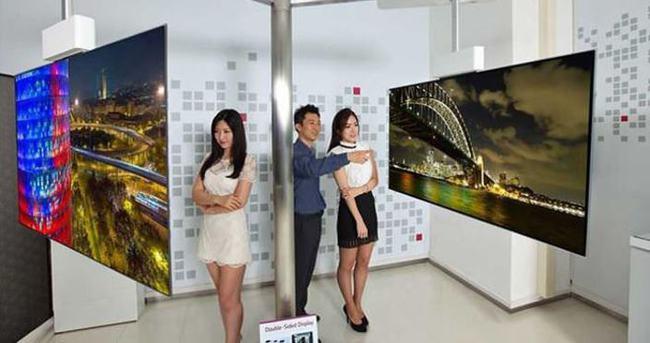 LG 111 inçlik çift taraflı 4K OLED TV geliştirdi
