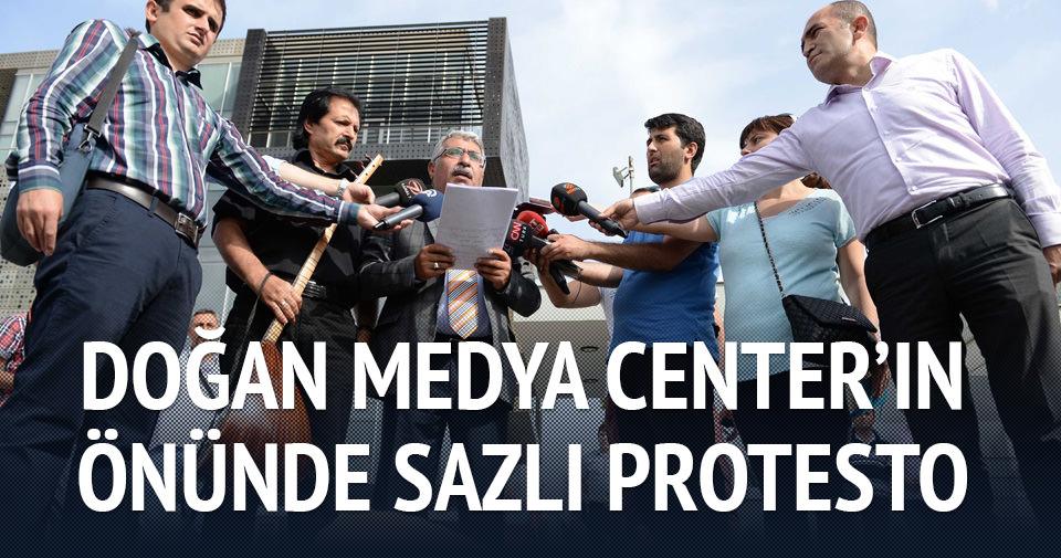 Doğan Medya Center önünde protesto