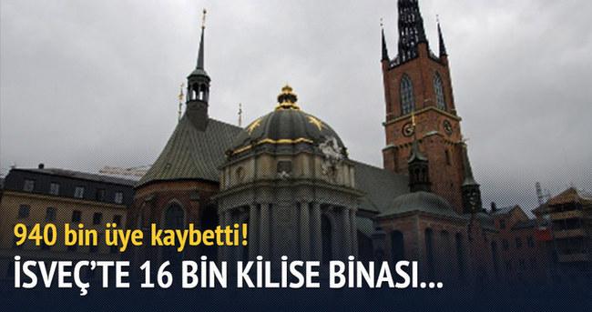 İsveç'te 16 bin kilise binası...
