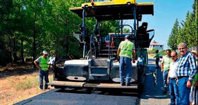 Manavgat yolları asfaltla kaplandı