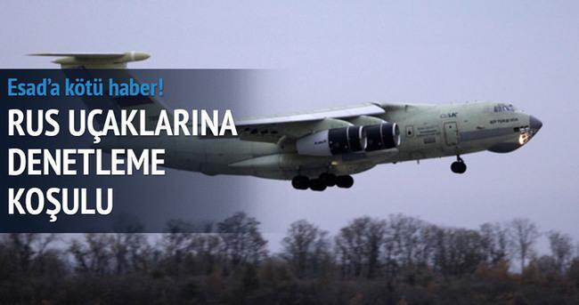 Rus uçaklarına denetleme koşulu