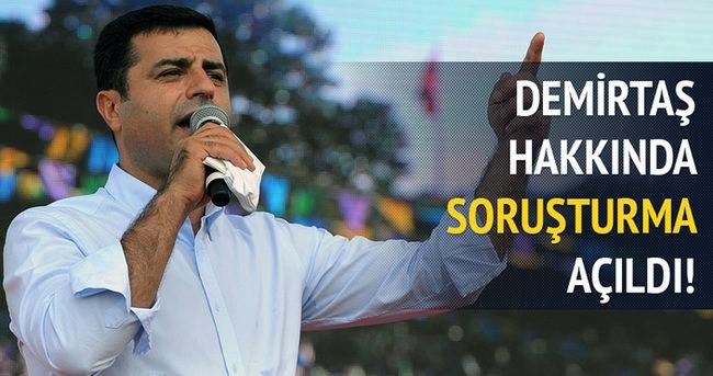 Selahattin Demirtaş'a soruşturma açıldı!