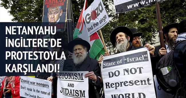 Netanyahu Londra'da protestoyla karşılandı