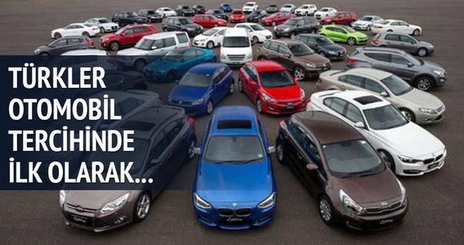 Türkler otomobil tercihinde ilk olarak...