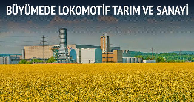 Büyümede lokomotif tarım ve sanayi