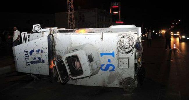 Van'da zırhlı araç devrildi: 3 polis yaralandı