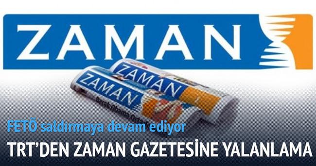 TRT'den 'Zaman' gazetesine yalanlama