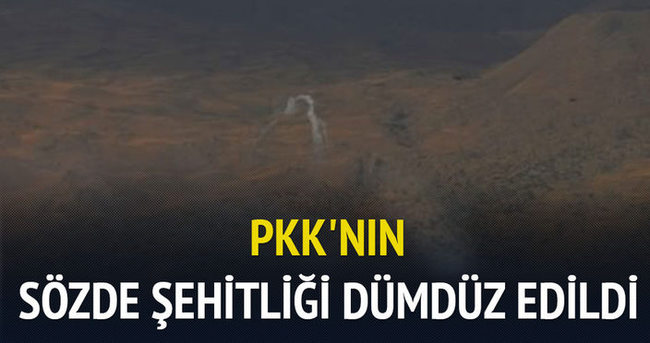 PKK'nın sözde şehitliği dümdüz edildi