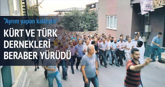 Türk ve Kürt dernekleri birlikte yürüdü